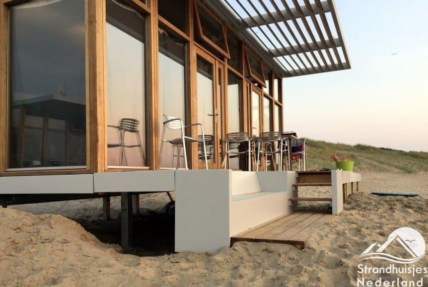 Strandhuisjes Cadzand-Bad zijzicht