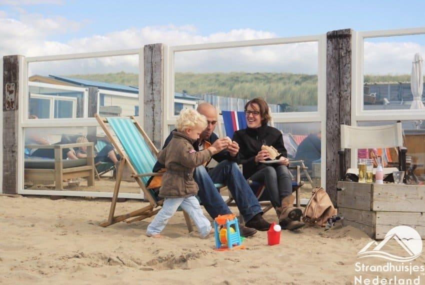 genieten op het strand