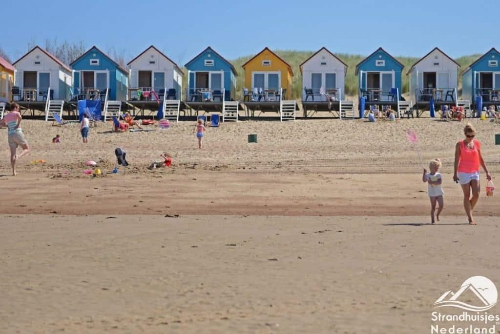 Strandhuisjes op het Nollestrand