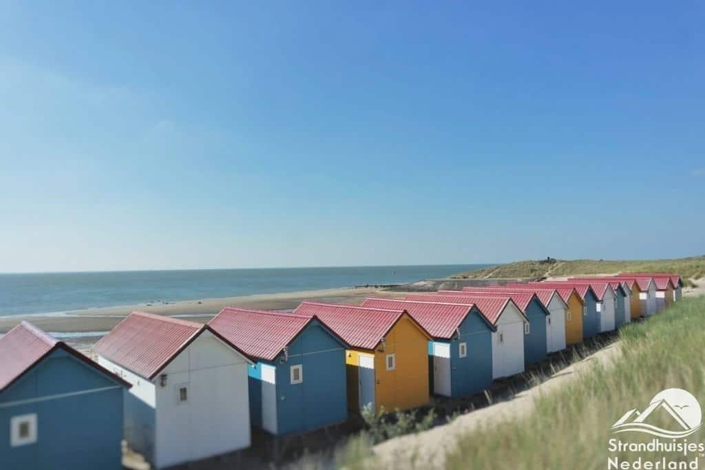 Strandhuisjes achterzijde