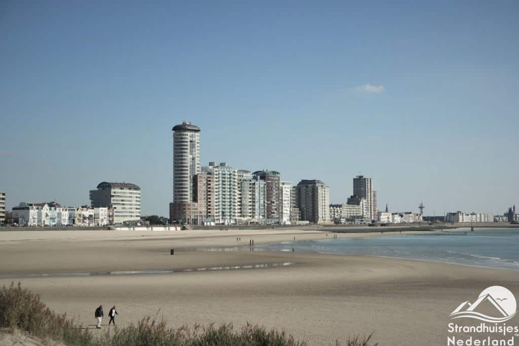 Vlissingen is vlakbij de strandhuisjes
