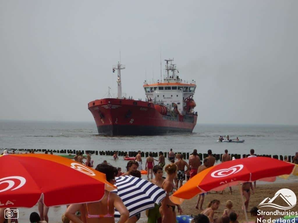 strand Vlissingen schepen