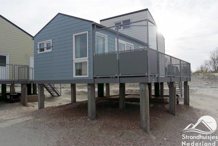 Strandhuisjes aan zee, Kamperland Zeeland