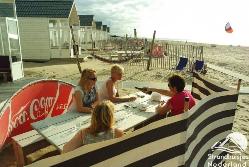 Strandtuin huisje Katwijk aan Zee