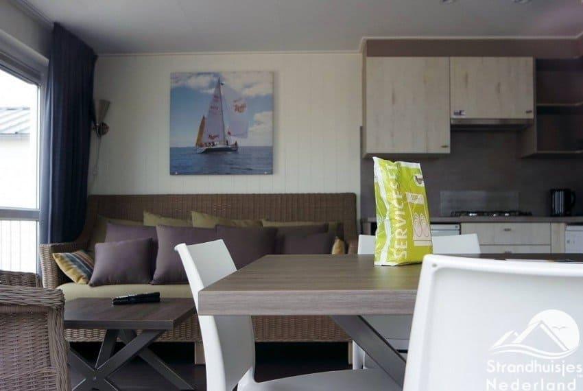 interieur strandhuisje Kamperland 2 tot 4 personen