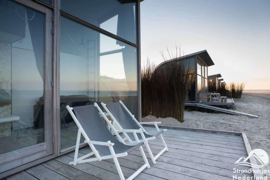Strandhuisjes Groede terras