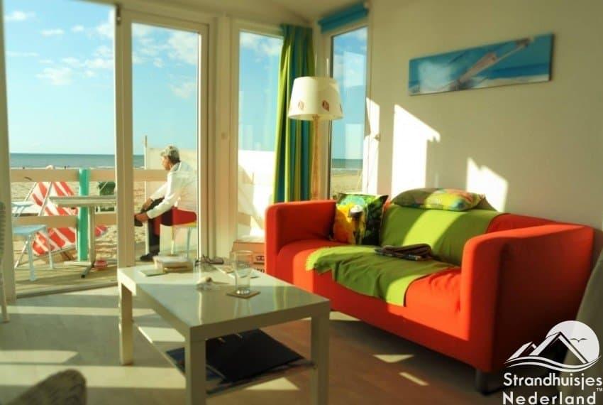 Vrolijk interieur strandhuisjes Katwijk aan Zee Key West...