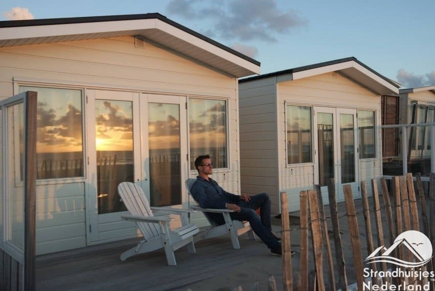 Strandhuisjes Rijk aan Zee bij Wijk aan Zee