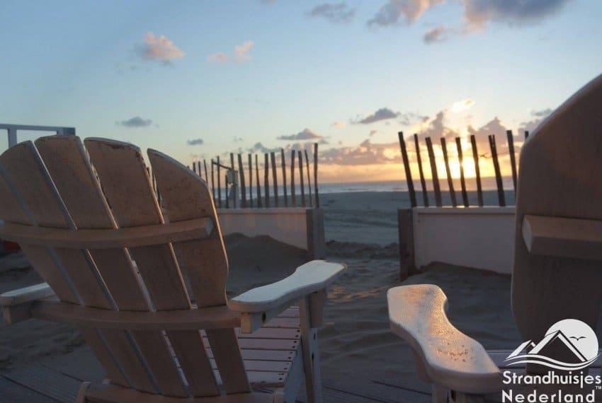 Uitzicht Rijk aan Zee strandhuisjes