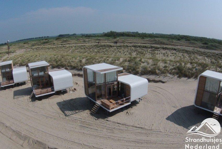 strandhuisjes Nieuwvliet Zeeland