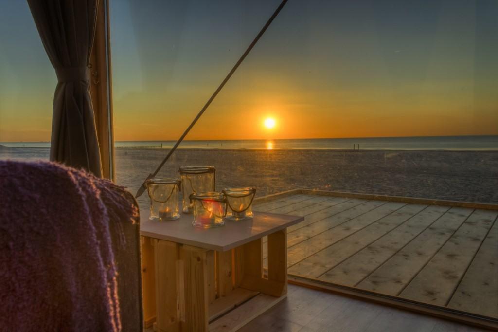 Uitzicht strandhuisje Groede