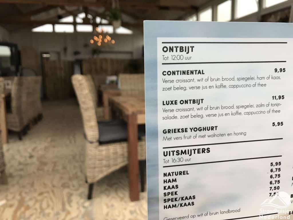 Ontbijt strandpaviljoen Wijk aan Zee 2