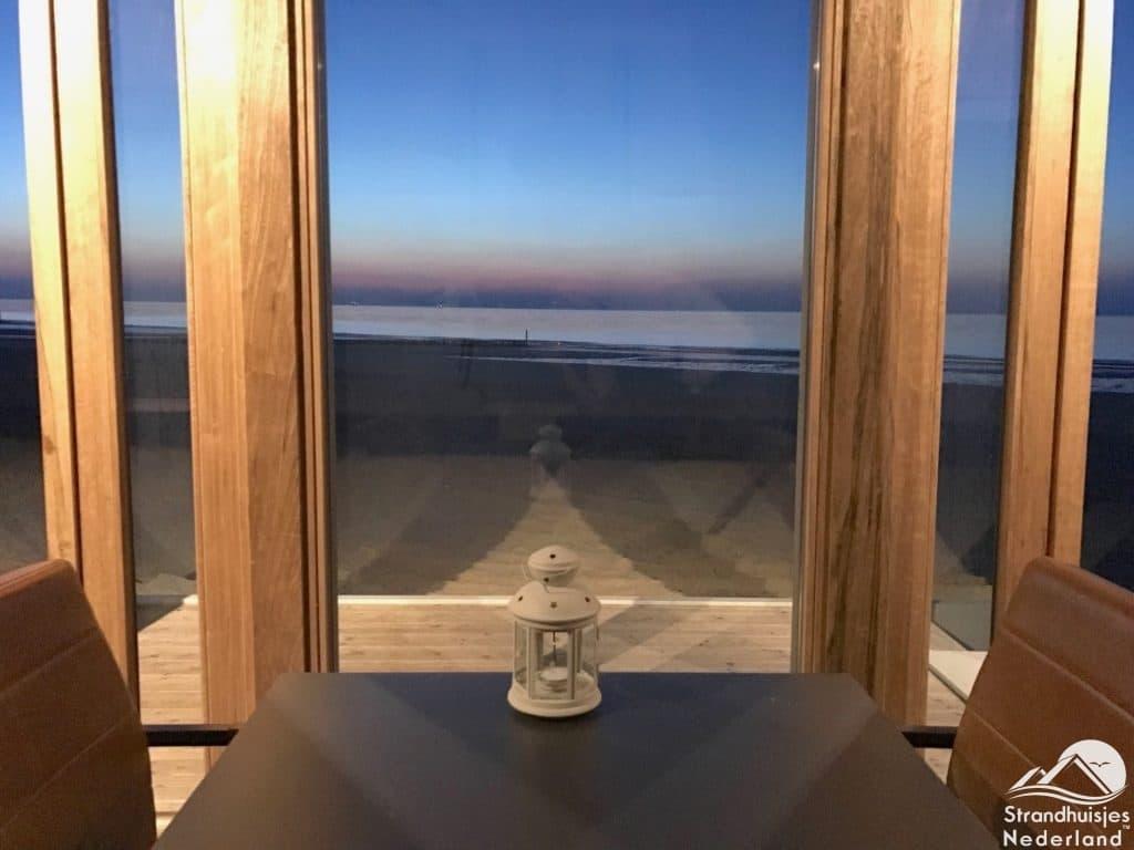Uitzicht strandhuisje Cadzand