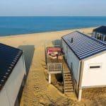 Strandhuisje Kamperland met zee