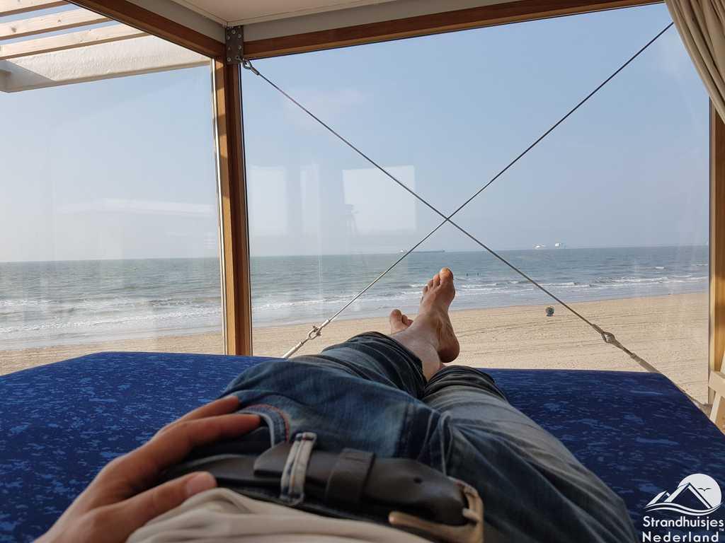 Slaapkamer boven strandhuisje Nieuwvliet