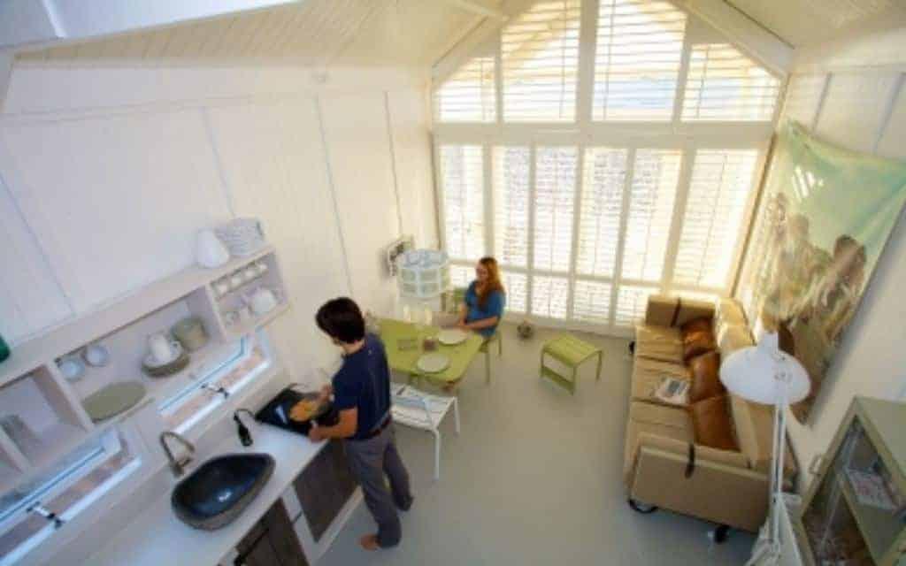 Interieur strandhuisje Kust, Katwijk aan Zee