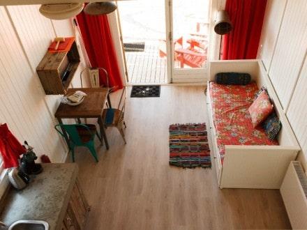 Interieur strandhuisje Paal 14 Katwijk