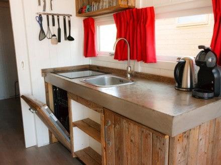 Keuken strandhuisje Paal 14 Katwijk
