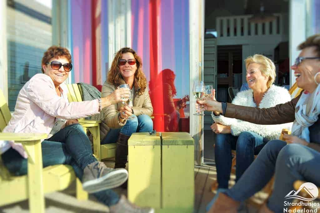 Strandterras huisje aan Zee, Katwijk