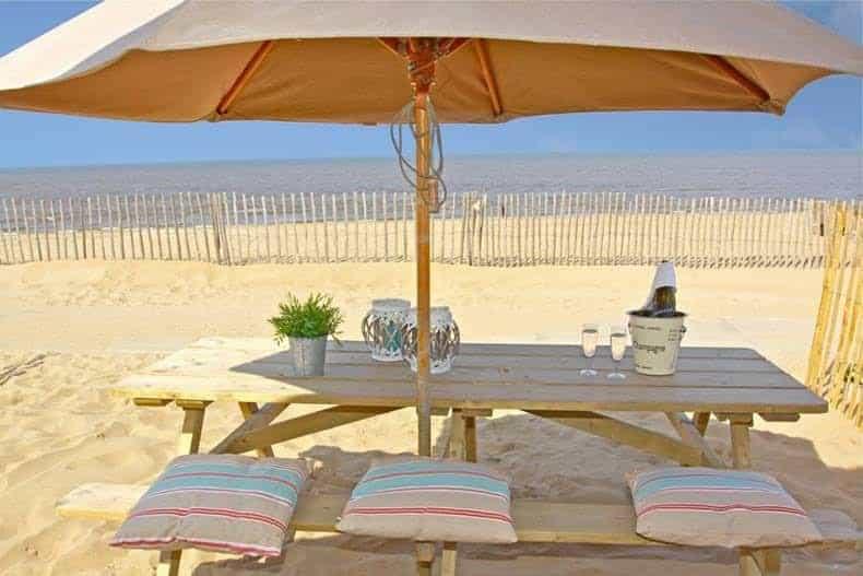 Strandterras huisje aan zee Willy Zuid
