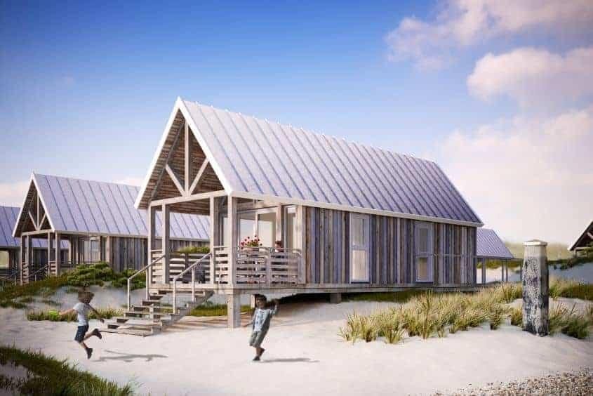 beach houses Nieuwvliet - duinhuisjes