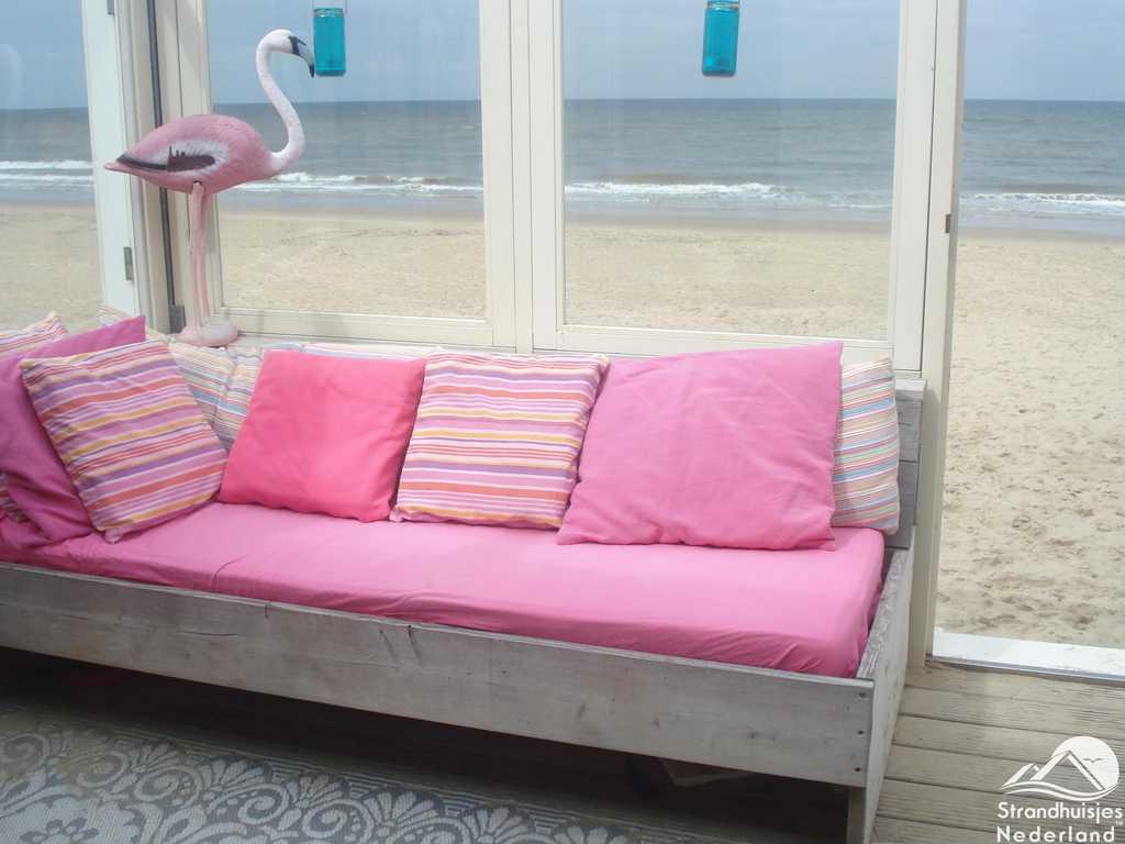 Strandterras strandhuisje Castricum