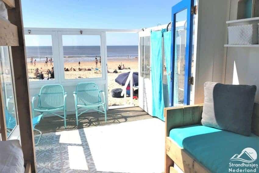 Uitzicht op zee -Strandhuisje Castricum