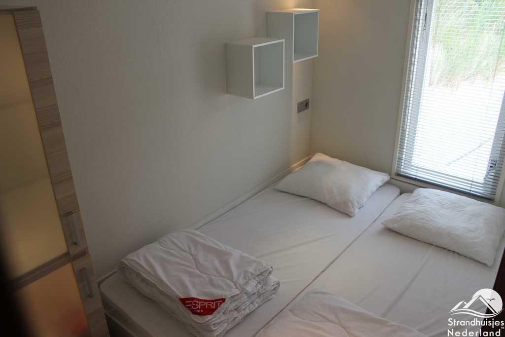 Slaapkamer strandhuisje Westduin 35