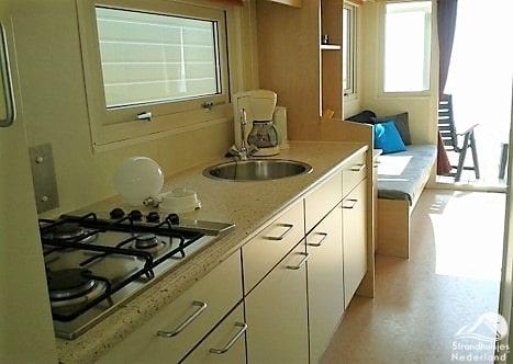 Interieur strandhuisje Vlissingen - Keuken