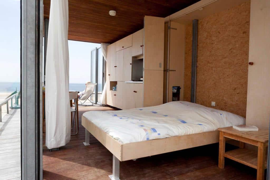 Tweepersoonsbed (opklapbaar) met goede matras
