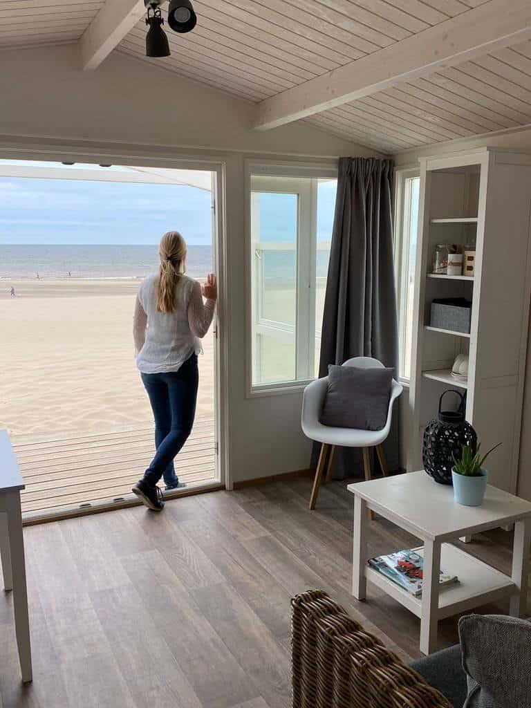 Strandhuis Noordwijk met zicht op de Noordzee