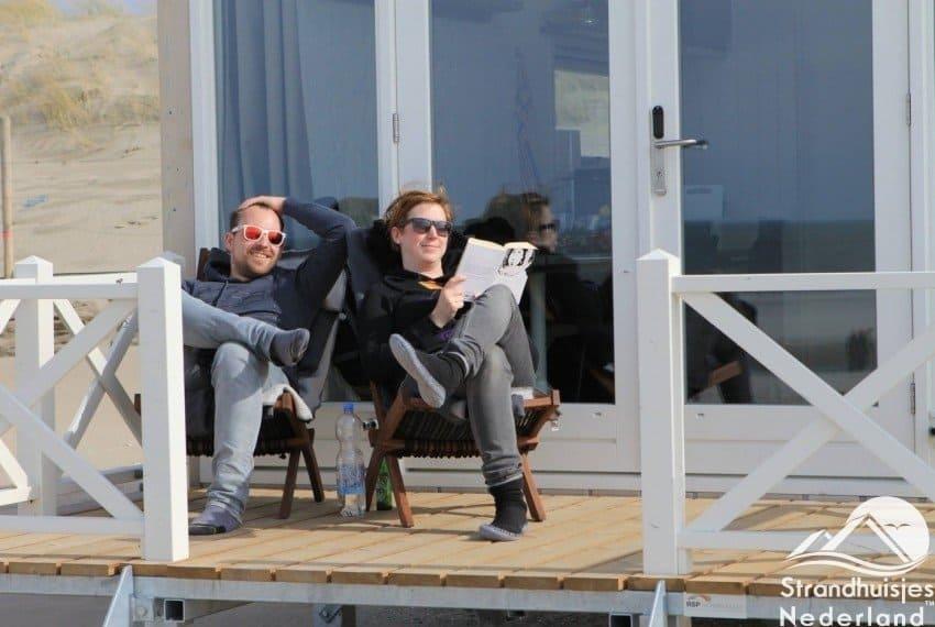 Relaxen bij Haagse strandhuisjes
