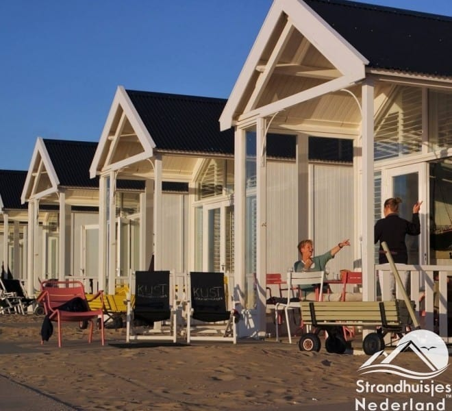 Het is fantaschtisch in een strandhuisje bij Katwijk aan zee.