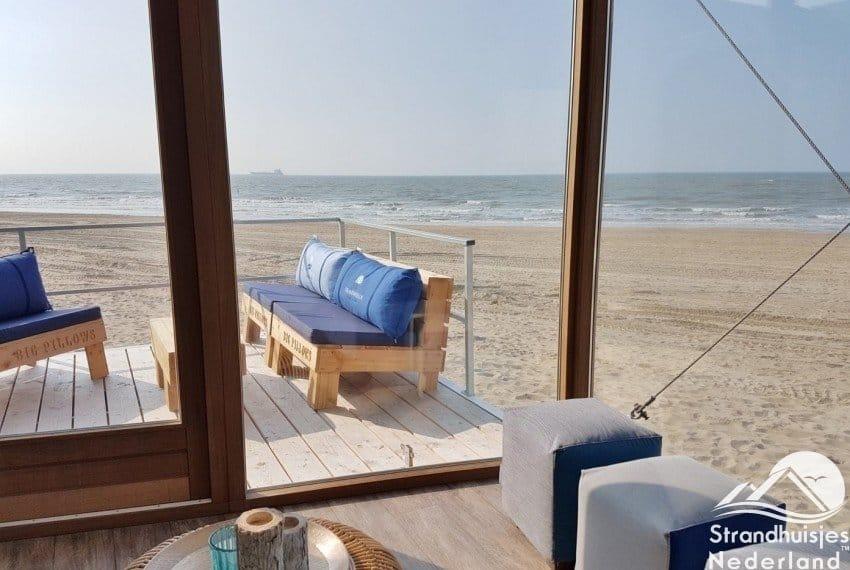 Panorama uitzicht strandhuisje Nieuwvliet