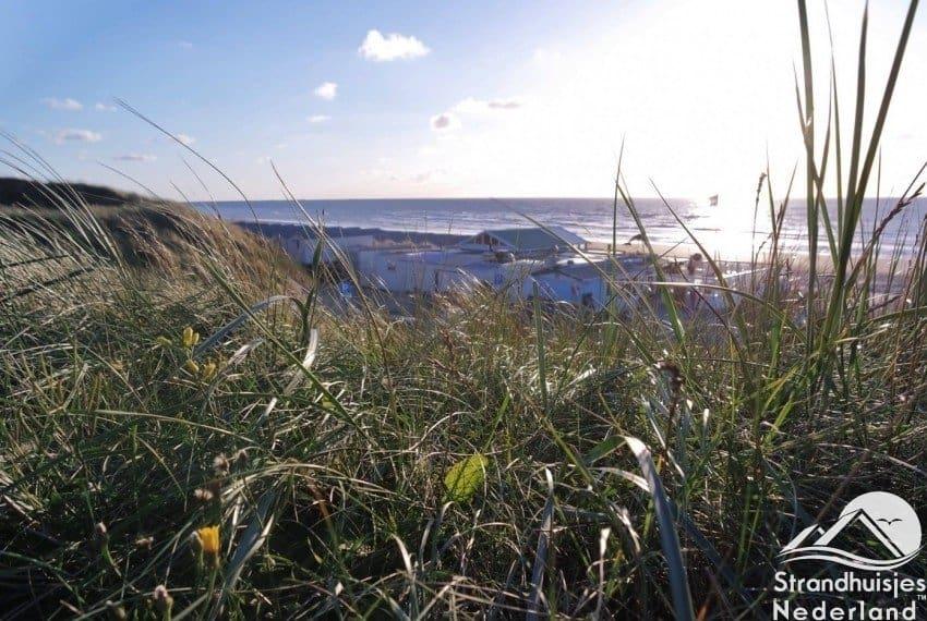 Zicht vanuit de duinen bij Aan Zee Slapen